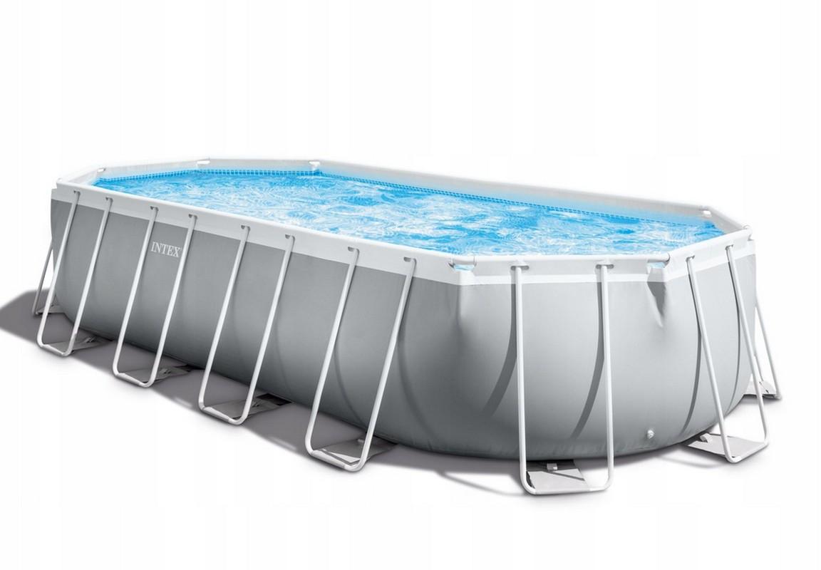 Купить Каркасный бассейн овальный 610х305x122см Intex Prism Frame Oval 26798,