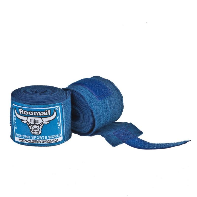 Купить Бинт боксерский Roomaif 3 м, хлопок-лайкра RME синий,