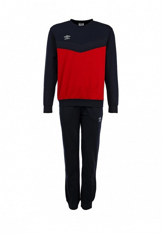 Костюм спортивный Umbro Unity Cotton Suit мужской 353015 (261) красн/чер/бел.