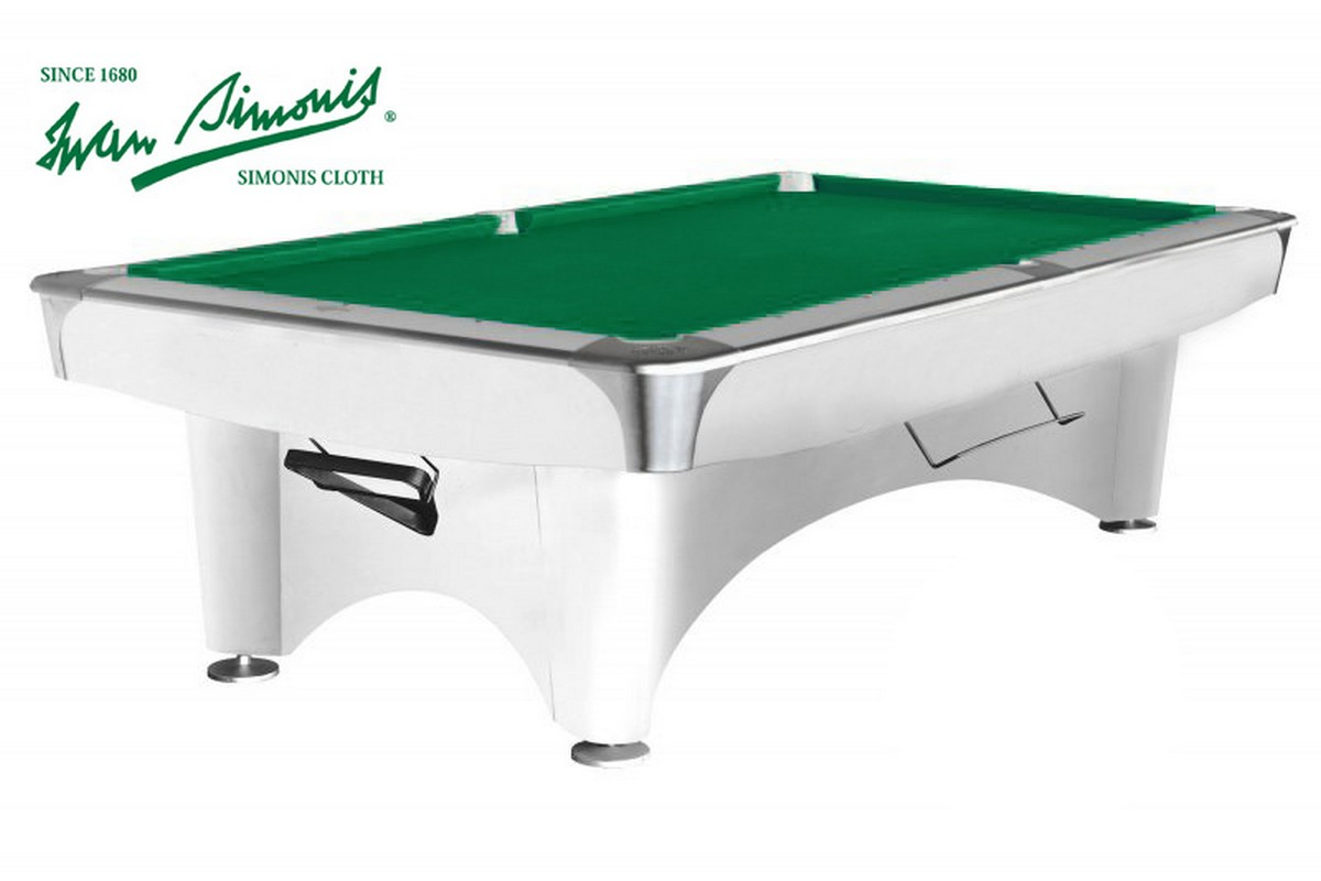 Бильярдный стол для пула Dynamic III 9 ф 55.100.09.3 белый
