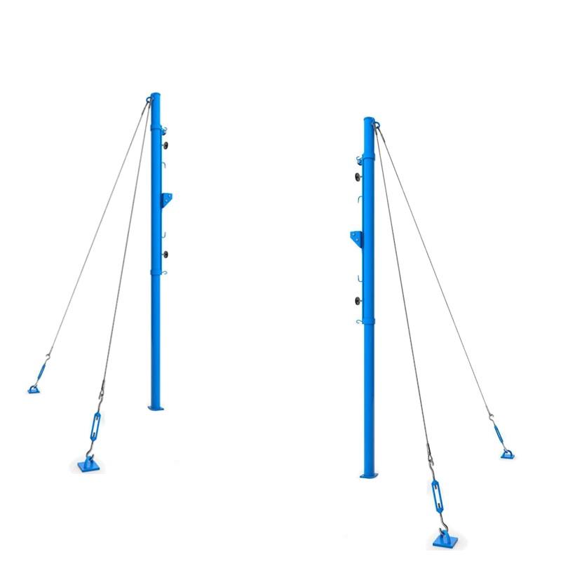 Купить Стойки волейбольные универсальные круглые на растяжках (с системой натяжения) Dinamika ZSO-002777,