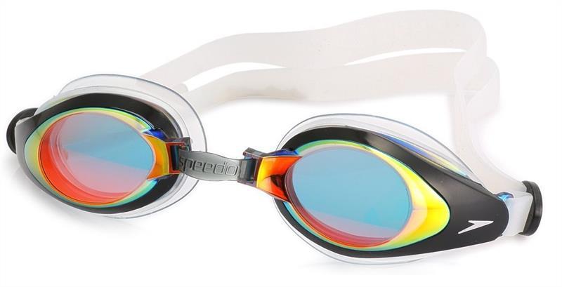 Очки для плавания Speedo Mariner Mirror (3550) красн/прозр.