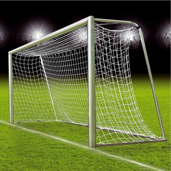 Купить Сетка для футбольных ворот ФСИ 1160-03, нить 6,0мм (5х2х1х1,5) белая,