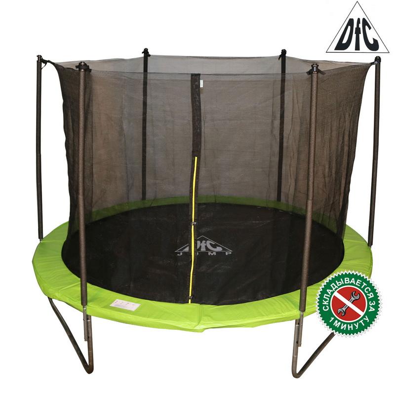 Батут DFC Jump 12FT 366 см c сеткой, складной, чехол, apple green 12FT-TR-EAG