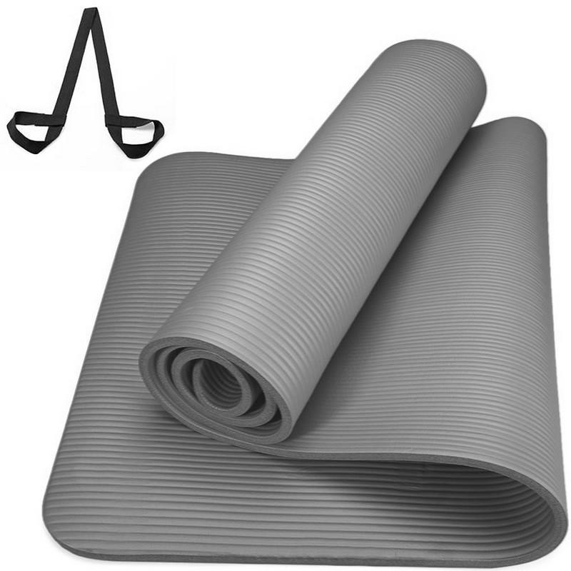 Купить Коврик Универсальный НБК 183х61х1,5 см серый с ремешком для переноски NBR15-18, NoBrand