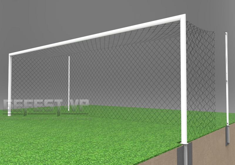 Купить Ворота для футбола, стальные, в стаканах Gefest СС-5081 (500x200) пара,