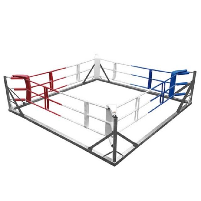 Купить Ринг боксерский рамный 4х4м (монтажная площадка 5,6х5,6м), NoBrand
