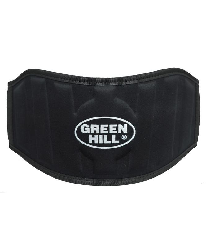 Пояс тяжелой атлетики Green Hill WLB-6732A, текстиль, черный