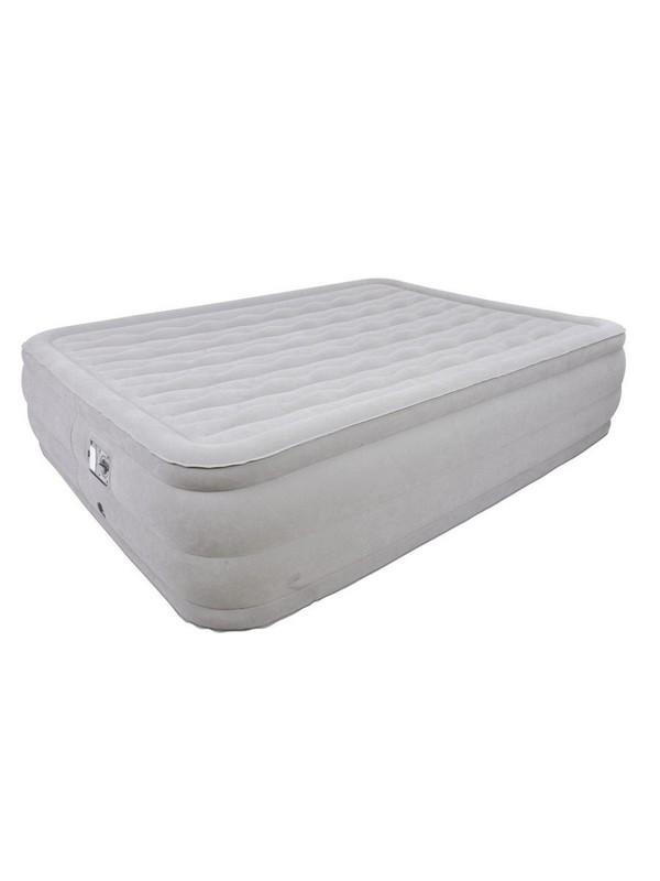 Кровать со встроенным эл. насосом Relax Deluxe High Rising Air Bed Queen 27291EU надувная мебель relax кровать надувная со встроенным эл насосом high raised air bed queen