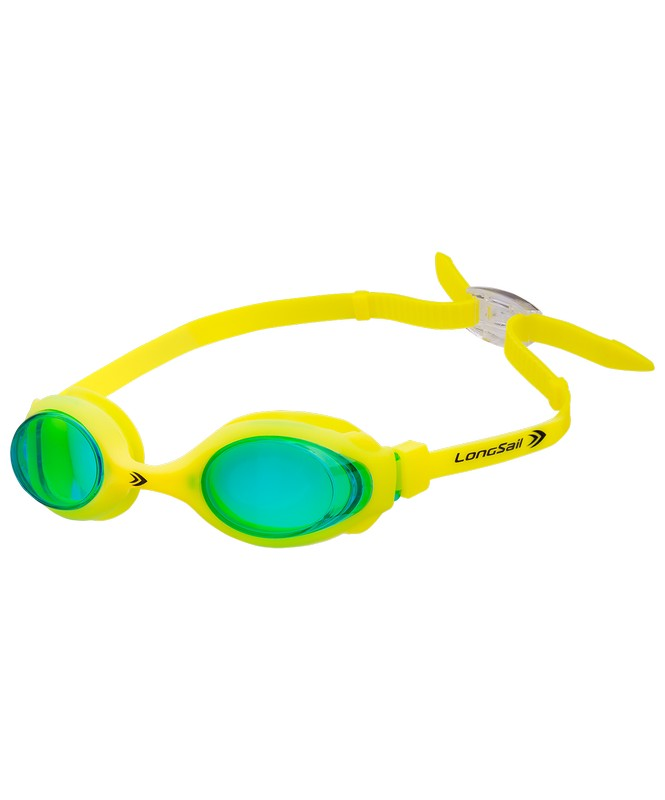 Очки для плавания LongSail Kids Marine, зеленый/желтый (L041020) фото