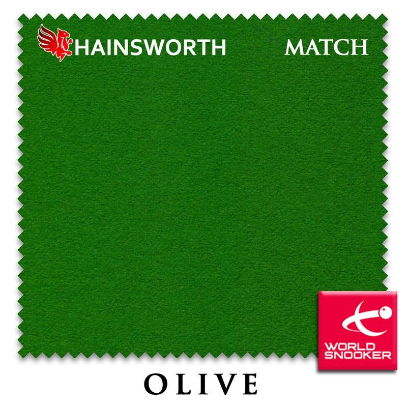 Купить Сукно Hainsworth Match Snooker 195см Olive,