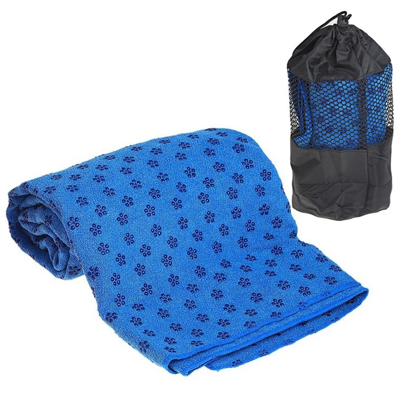 Купить Полотенце для Йоги 183х63 см, с сумкой переноски C28849-3 синее, NoBrand