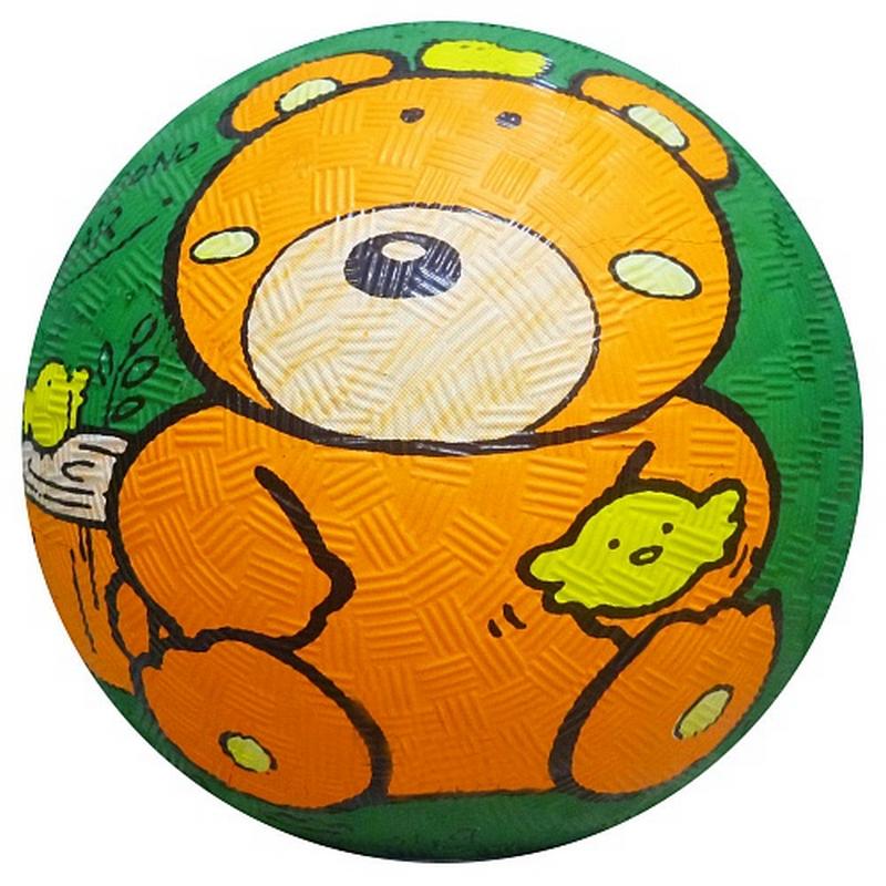 Мяч резиновый ?14см Larsen RGB5010 Медведь