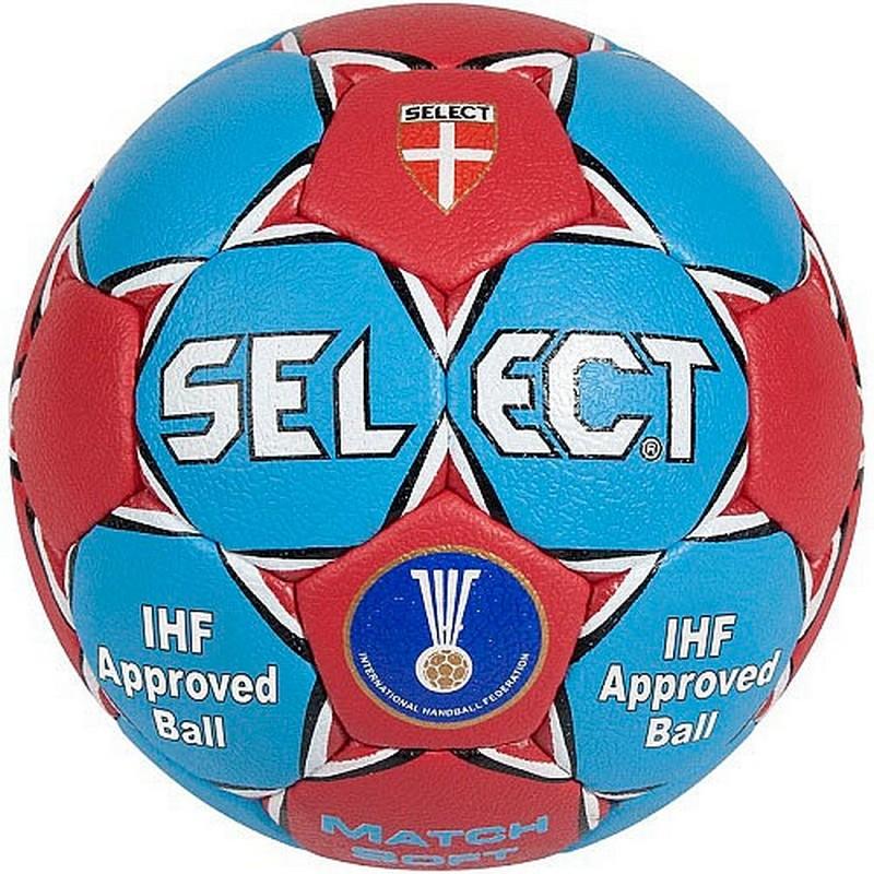 Мяч гандбольный Select Match Soft IHF р.3 мяч футбольный select talento арт 811008 005 р 3