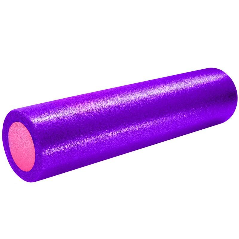 Купить Ролик для йоги полнотелый 2-х цветный 60х15см B31512-7 фиолетоворозовый, NoBrand