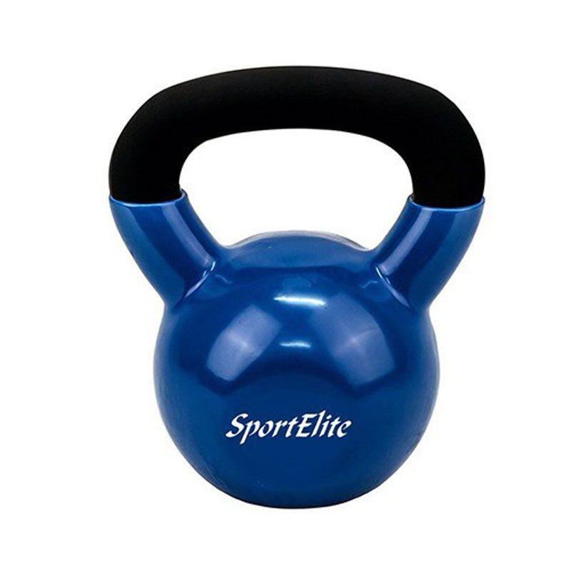 Гиря чугунная с виниловым покрытием 12 кг Sport Elite ES-0288