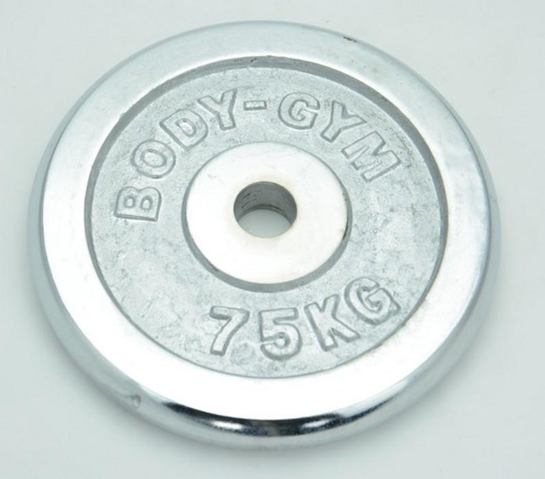 Блин хромированный Body Gym D=31 мм WP06 7,5 кг
