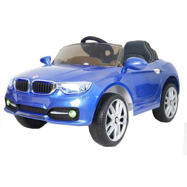 Детский электромобиль River-Toys BMW T004TT синий с ДУ
