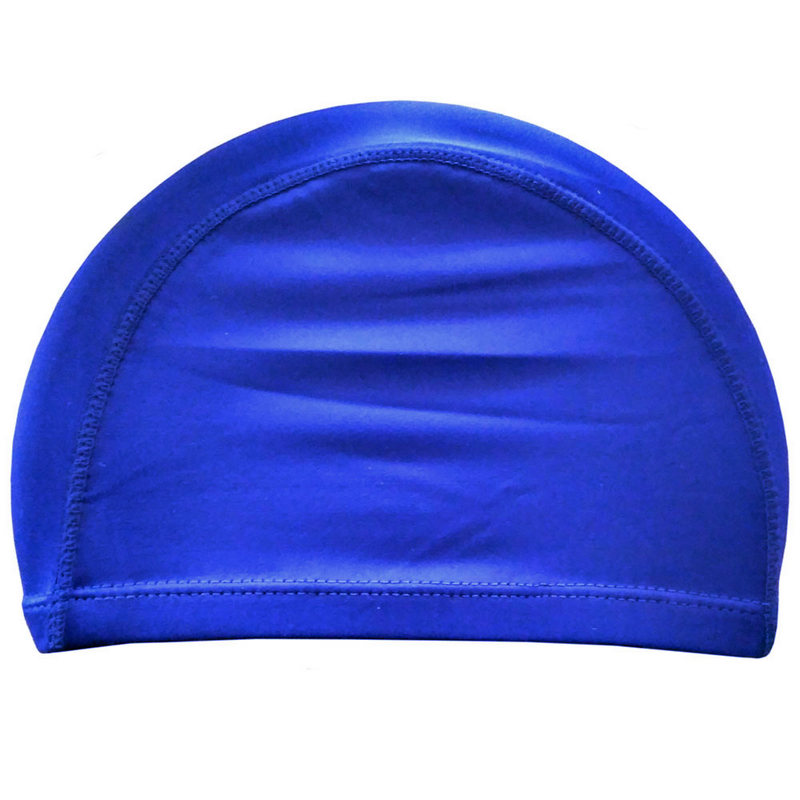 Шапочка для плавания взрослая текстиль (синяя) C33534, NoBrand  - купить со скидкой
