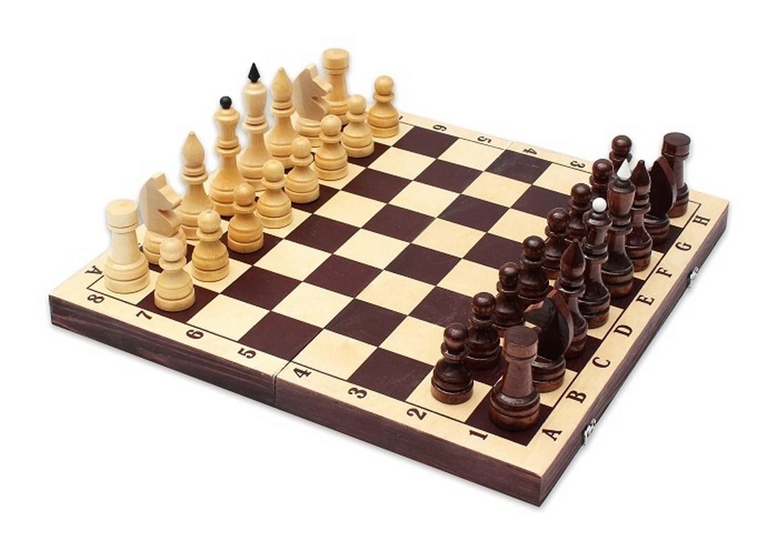 Купить Шахматы турнирные парафинированные с темной доской Е-9, NoBrand