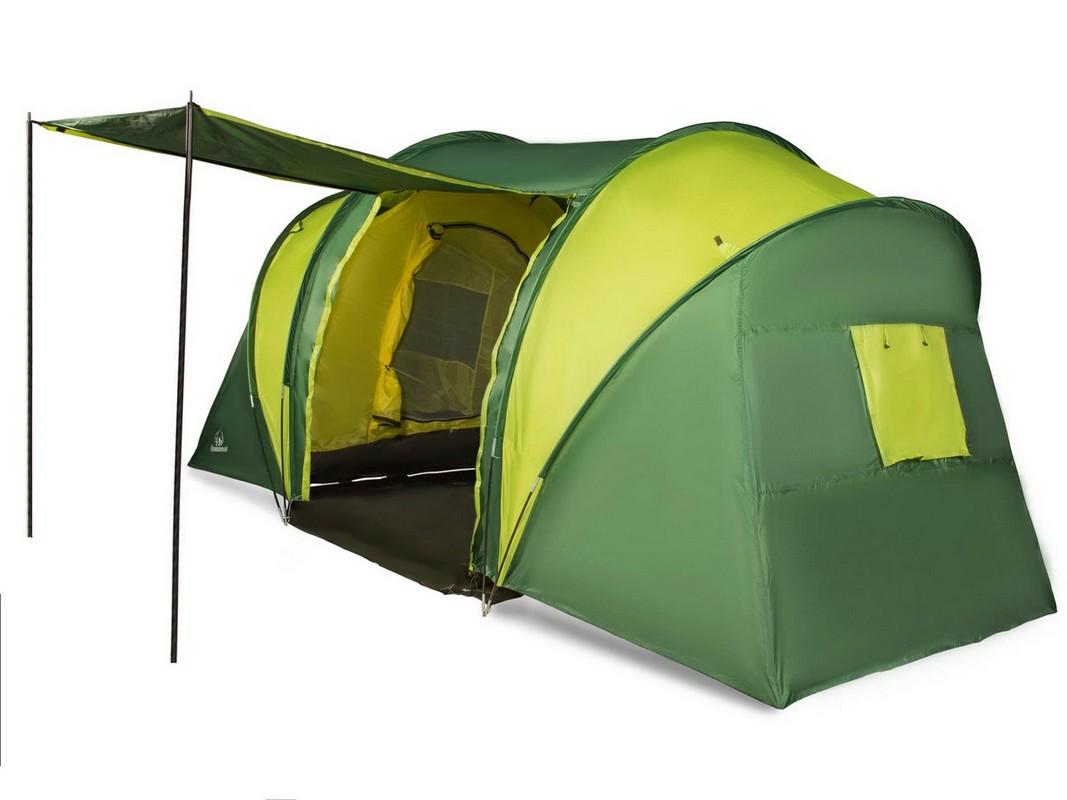 Палатка четырехместная Greenwood Halt 4 зеленый\лайм