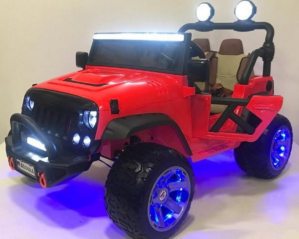 Детский электромобиль River-Toys Jeep A004AA красный