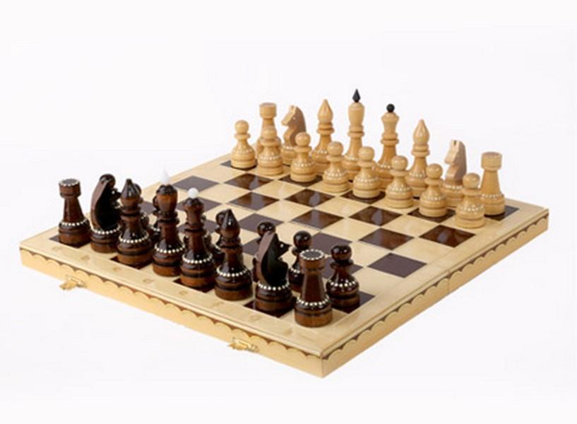 Купить Шахматы турнирные инкрустированные (Орлов), NoBrand