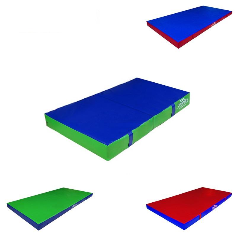 Купить Мат гимнастический 100х50х5см винилискожа складной в 2 сложения (холлослеп/холлофайбер) Dinamika ZSO-001339,