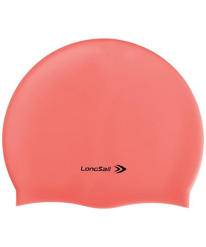 Купить Шапочка для плавания LongSail силикон, коралловый,