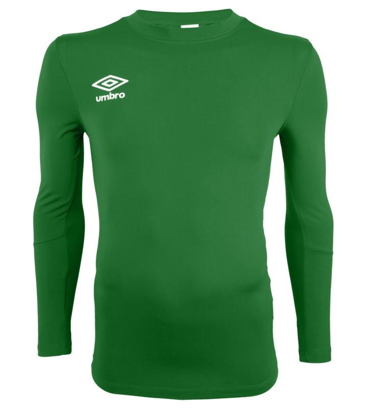Футболка тренировочная Umbro Fw Ls Crew Baselayr с длинным рукавом (017) зеленая