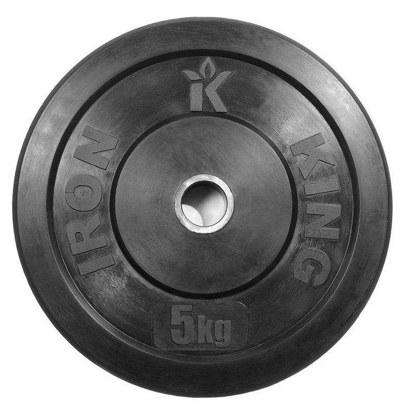 Купить Диск для кроссфита Iron King (бампер) черный D50 мм 5 кг CR 202,