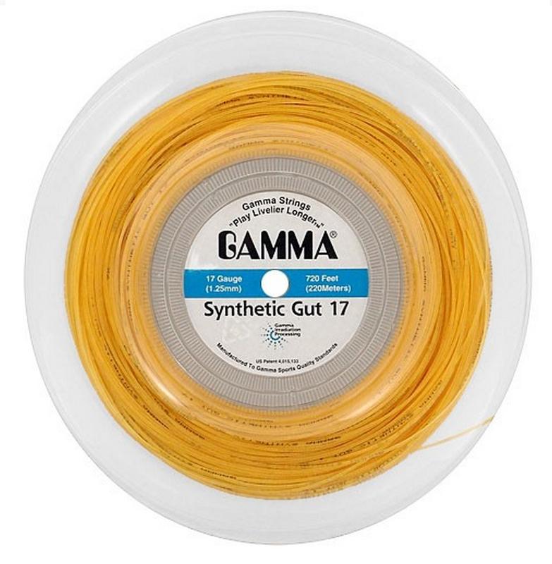 Струны для теннисных ракеток Gamma Tenex Synt.Gut 17 (Gold)
