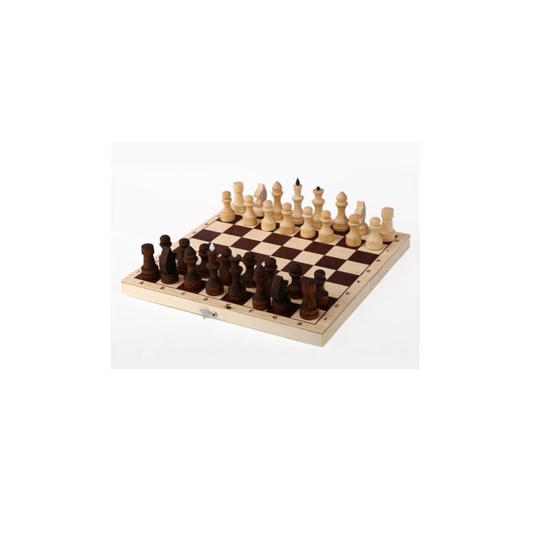 Купить Шахматы обиходные парафинированные в комплекте с доской P-4, NoBrand