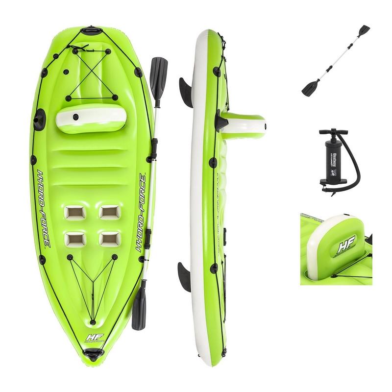 Купить Надувная лодка-каяк Koracle, 270x100см, весло, насос Bestway 65097,