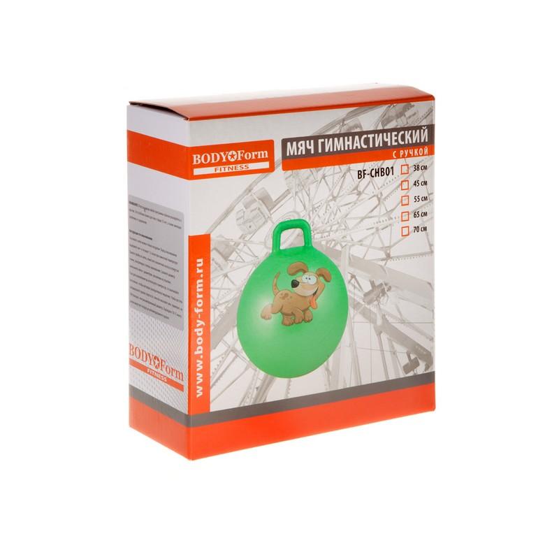 Мяч гимнастический 38 см Body Form BF-CHB01 зеленый