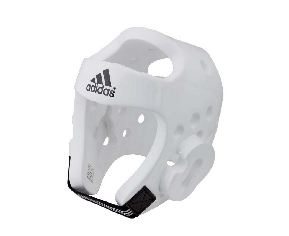 Шлем для тхэквондо Adidas Head Guard Dip Foam WTF белый adiTHG01
