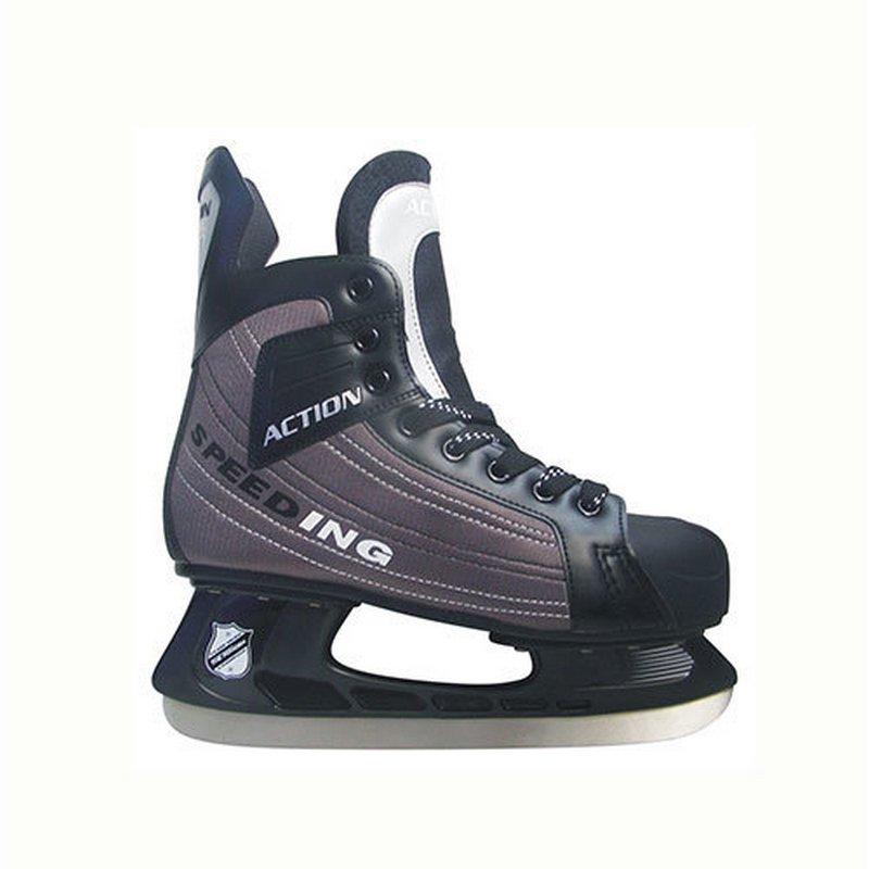 Коньки хоккейные Action PW-216DN коньки хоккейные action цвет серый pw 216dn размер 39