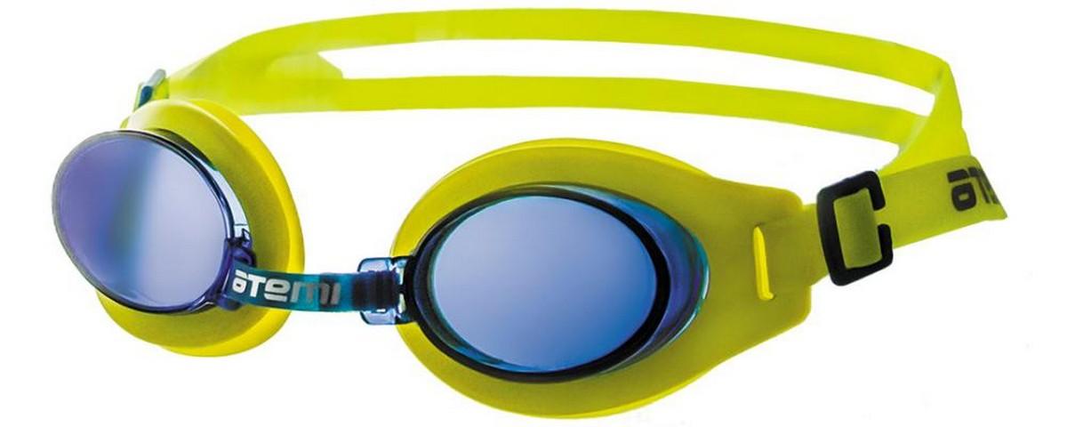 Купить Очки для плавания Atemi S102 жёлтый-синий,