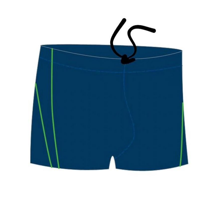 Купить Плавки-шорты Atemi М 6 2 мужские для бассейна, с пайпингом, темно-синие,