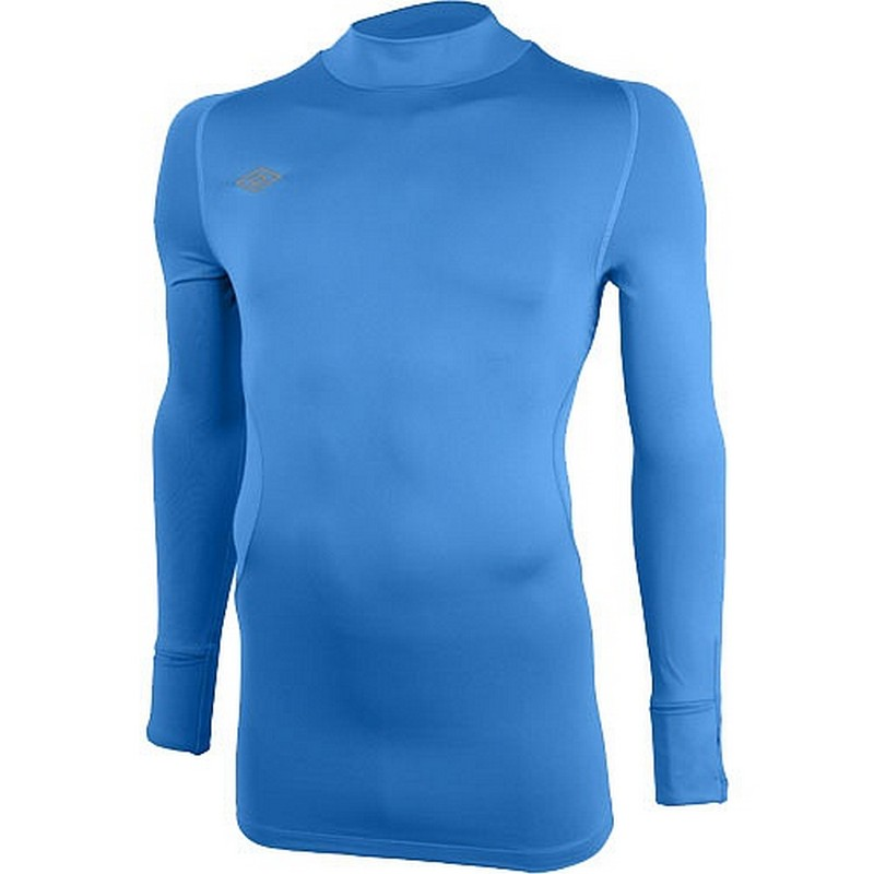 Терморубашка Umbro Crew Base layer cold дл. рукав, воротн. (BX5) голуб/бел.