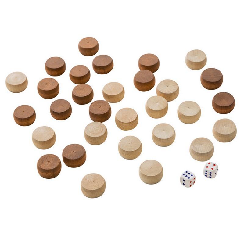 Картинка для Фишки для нард Ф-1  quot;Кировские quot; малые с кубиками