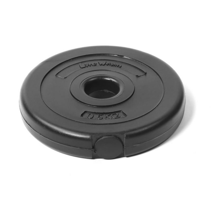 Диск пластиковый Lite Weights d26мм 0,5кг 1080LW черный