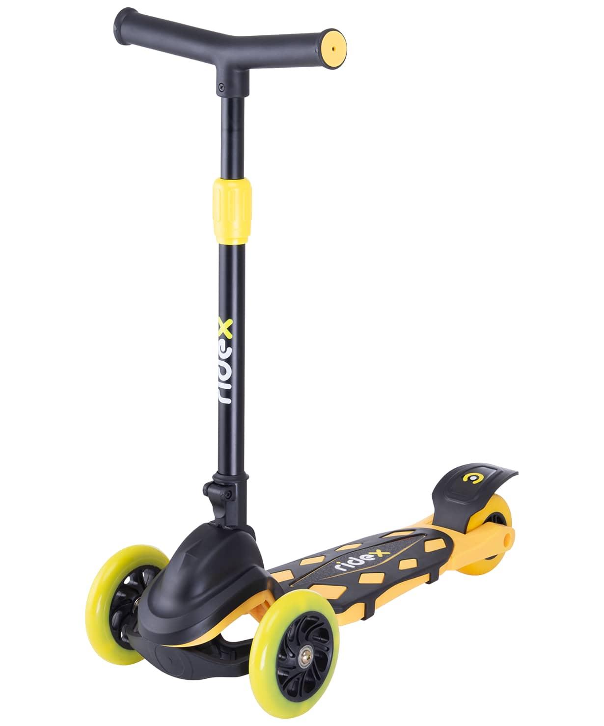 Купить Самокат 3-колесный Ridex Robin d120/80 мм, неоновый желтый,