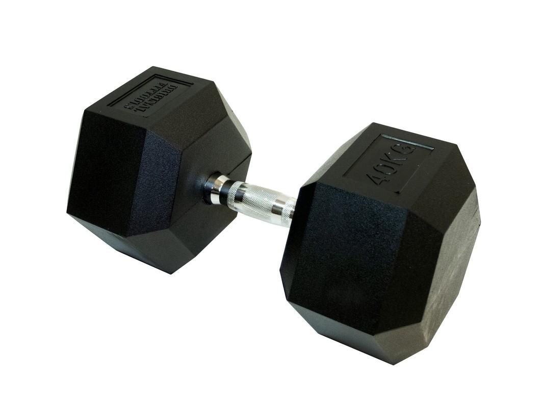 Купить Гантель гексагональная Original Fit.Tools 40 кг FT-HEX-40,