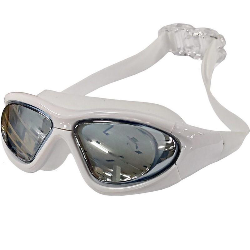 Купить Очки для плавания полу-маска B31537-W Белый, NoBrand