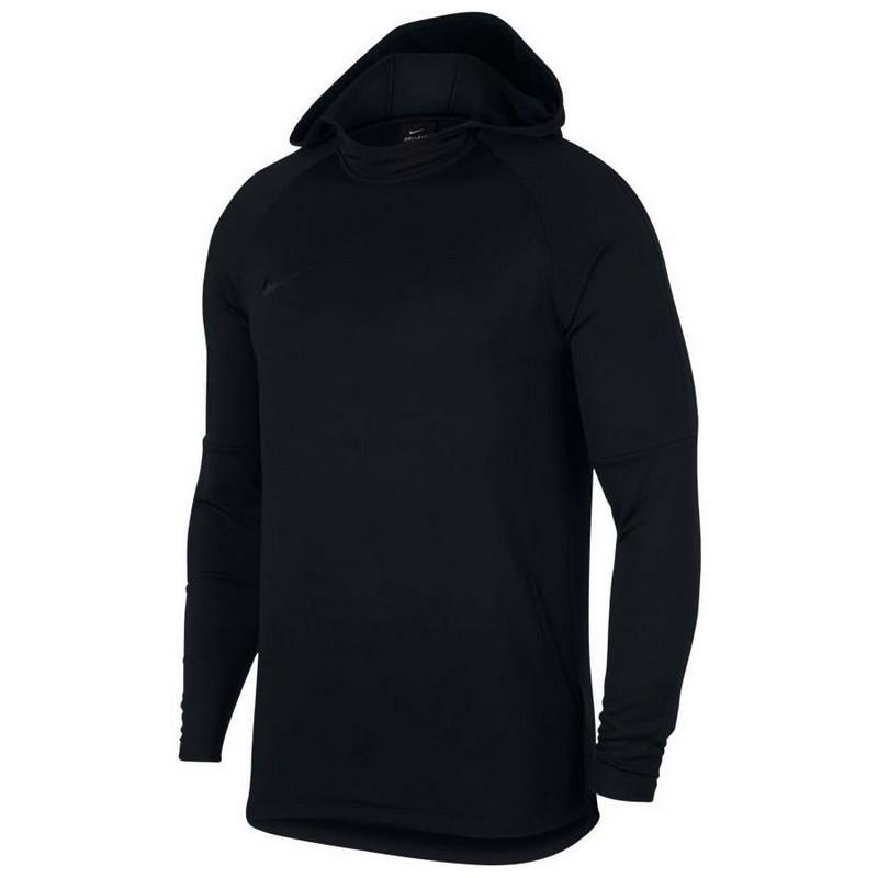 Толстовка Nike Dry Acdmy Hoodie Po 926458-011 с капюшоном, черная