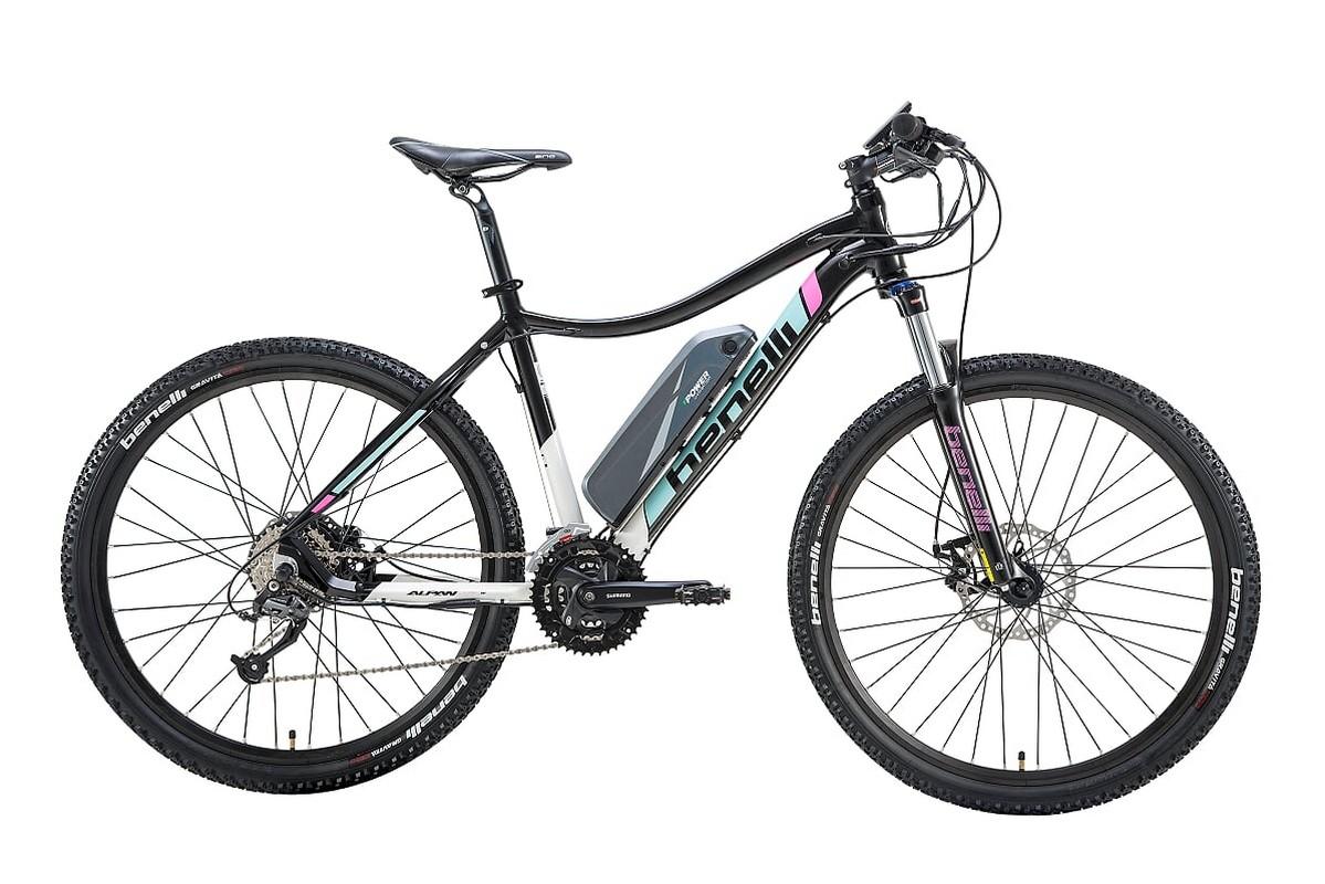 Велогибрид Benelli Alpan W 27.5 STD 021684-2013 white/blue/pink