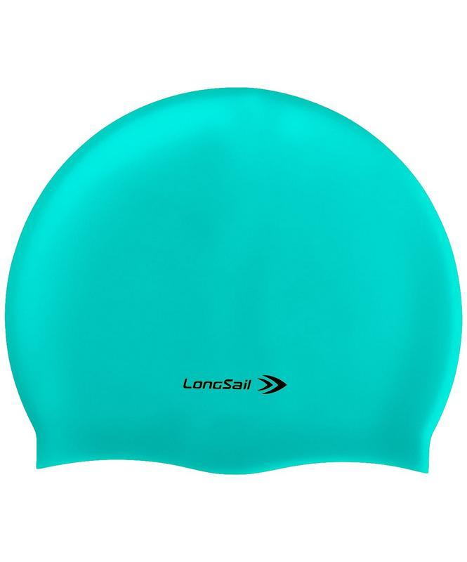 Купить Шапочка для плавания LongSail силикон, морская волна,