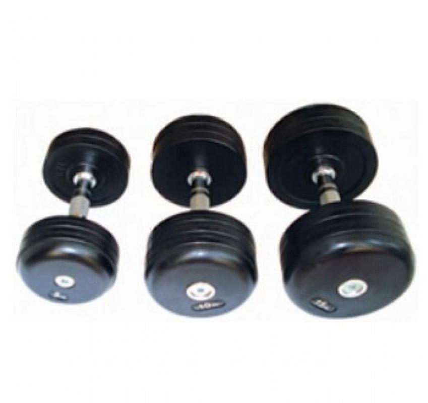Купить Обрезиненный гантельный ряд Dayu Fitness DB-181-1 ( 27,5-50 кг),