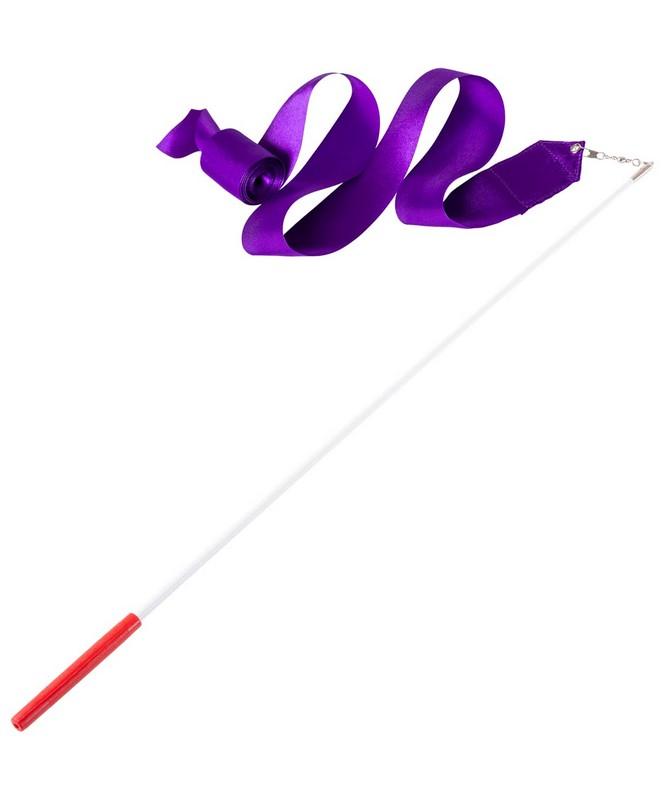 Купить Лента для художественной гимнастики Amely AGR-201 4 м, с палочкой 46 см, фиолетовый,